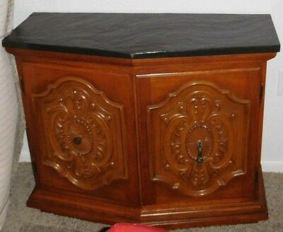 Vt CREDENZA SLATE TOP SIDEBOARD SERVER DETAILED DOORS Ornate MCM