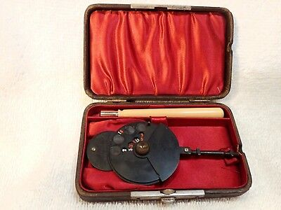 1885 Loring  Ophthalmoscope: By Reimold & Meister Philadelphia In Original Case!