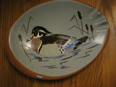 Stangl  Pottery  Trenton Nj.  3925H  Made In Usa   Wood Duck   Large Ashtray