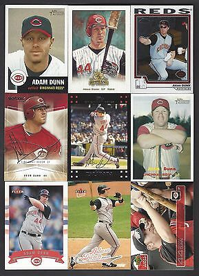 Adam Dunn 10 Different Cards - Lots of Premium Issues!!