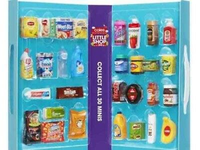 Coles Little Shop Mini Collection 30 Full Set with Case  Free Shipping