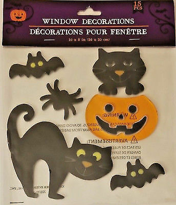 Halloween Window Sticker Spider Web Bat Black Cat Ghosts Party Haunted House Decal Supplies 130 PCS Halloween Window Clings Decorations