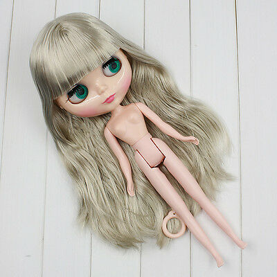 """Takara 12/"""" Neo Blythe from factory Nude Doll  Beige curly hair SD105 White skin"""