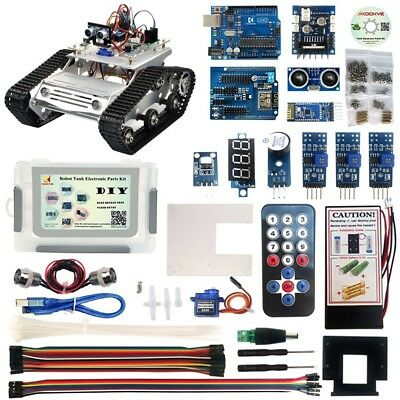 DIY Robot Tank Car Electronic sArduino Pi Robot Raspberry Parts Kit W/ Tutorial