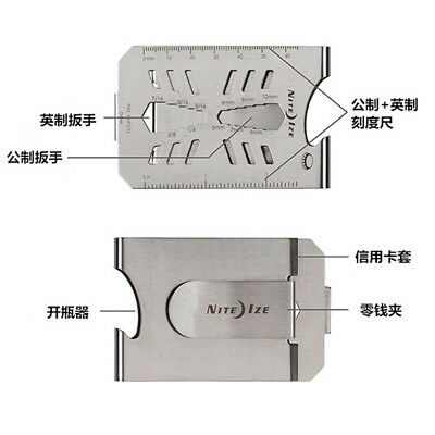 Metal banknote clip EDC stainless steel tool card ultra-thin ID Name card hoIder