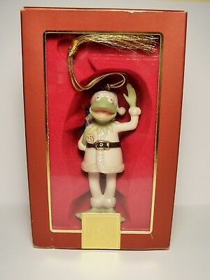 LENOX Santa KERMIT The MUPPETS Christmas Ornament Mint in Box with Tag