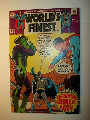 World's Finest #183 VG,192 VG+,196 GD/VG,215 GD+,220 FN,Batman,Superman,lot of 5