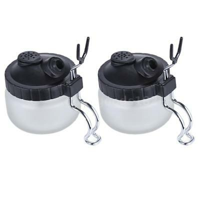 2PCS TD-888A Airbrush Cleaning Pot Clean Paint Jar Air Brush Holder Bottle 304ml