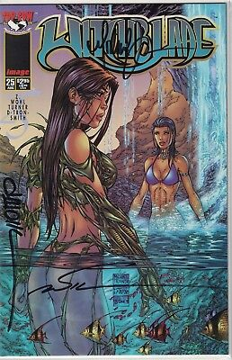 Top Cow Witchblade #25b Variant Waterfall Signed Michael Turner Marc Silvestri +