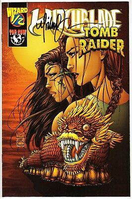 Top Cow Witchblade / Tomb Raider 1/2f Wizard Special Offer Signed Michael Turner