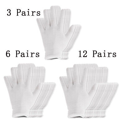 White Coin Jewelry Inspection Gloves Cotton Lisle Work Gloves Men Women 3/6/12X