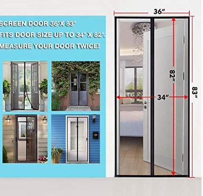 Strong Magnetic Screen Keep Mosquitoes Out, for Sliding Door, Fiberglass Mesh