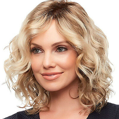 Women Girl Short Curly Wavy Wig Synthetic Hair Masquerade Party Cosplay Full Wig
