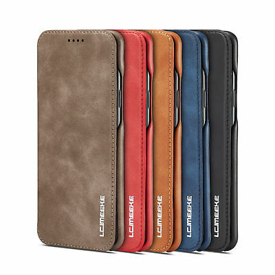 Luxury Leather Wallet Flip Stand Case Cover For Samsung Galaxy S8/9 Plus &iPhone