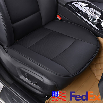 PU Leather Deluxe Car Cover Seat Protector Cushion Black Front Universal US Ship