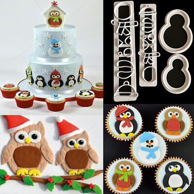 Snowman Cutter Cookies Mould Fondant Cake Decorating Biscuit Paste Mold Tool DIY