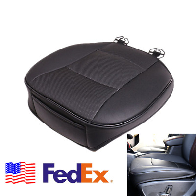 US Shipping Car Front Seat Cover Black PU Leather Fonrt Seat Cushion Stitching