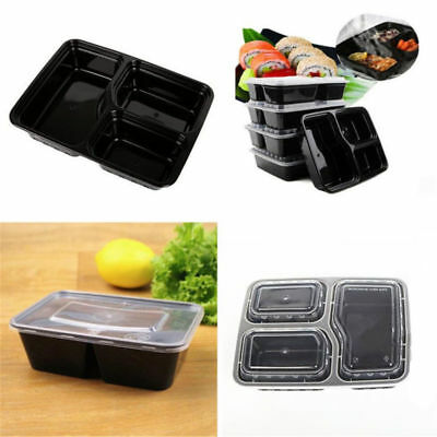2~10x Meal Prep Containers Plastic Food Storage Microwavable Lunch Box Reusable