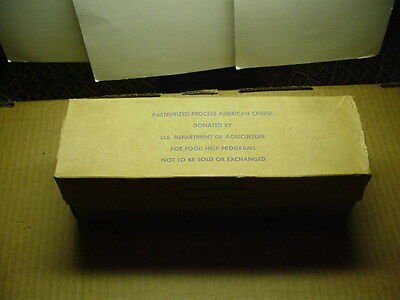 US Government Department of Agriculture Government Cheese Cardboard Box VINTAGE