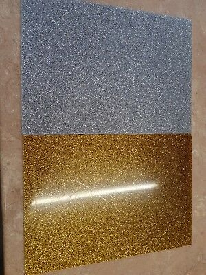 Gold Glitter acrylic sheets 3mm A4 sized great for laser craft