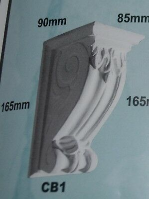 Corbels - CB1 - Plaster - 90mm(Out) x 165mm(H) x 85mm(W)
