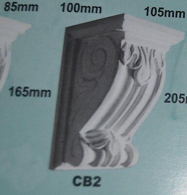 Corbels - CB2 - Plaster - 100mm(Out) x 165mm(H) x 105mm(W)