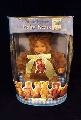 "Anne Geddes Baby Bears 12"" Doll / 2001 Collectible Bear Doll"