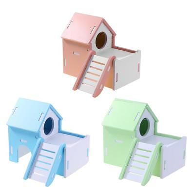 Wooden House Cage Hutch Exercise Toys for Hamster Hedgehog Mouse Rat Guinea Pig