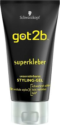 Schwarzkopf GOT2B Gel Coiffant gel plus fort Superkleber 150ml (x6)