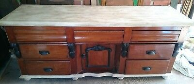 Antique Victorian Dresser Sideboard Upcycled