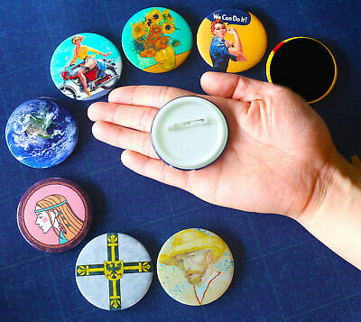 """Religious Symbol Culture Pin backs Ancient Icon Button Tinplate Badge 58mm/2.2"""""""
