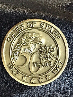 Authentic Vintage USAF 1997 50th Annv. Chief of Staff Coin 178