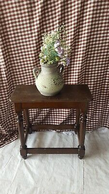Antique Oak Jointed Stool / Coffin Stool *RARE FIND* FREE UK DELIVERY