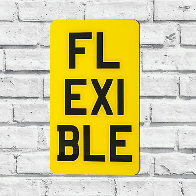 "Flexible 4X7"" Portrait Show Number Plate Enduro Motorcycle Flexi Reg Bobber"