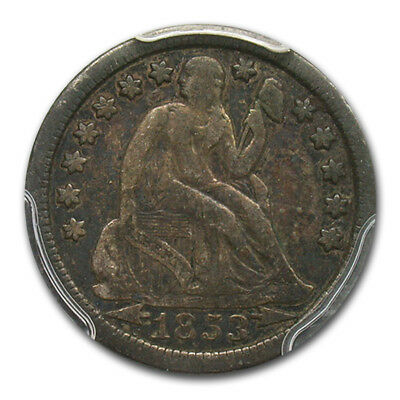 1853-O Liberty Seated Dime Fine-12 PCGS (Arrows) - SKU#173501