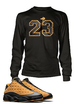 4b56db5e 23 Graphic Tee Shirt to Match AIR JORDAN 13 LOW CHUTNEY Shoe Big and Tall or