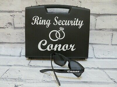 Ring Security Box with matches Ring Security sunglasses, wedding ring box