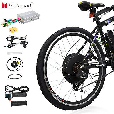 Electric Bicycle Conversion Kit 1500W 48V E Bike Motor Hub Speed Rear Wheel 26""