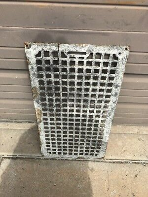 "AN cast-iron cold air return or heating grate 13 7/8""by 25.5 Crack"