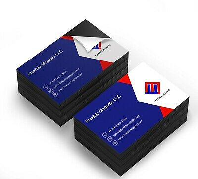 Self Adhesive Business Card Magnets, 20 mil Peel and Stick.