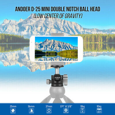 "360°Swivel Aluminum Alloy Ball Head 1/4""Screw Mount Bracket Holder F Camera V5R0"