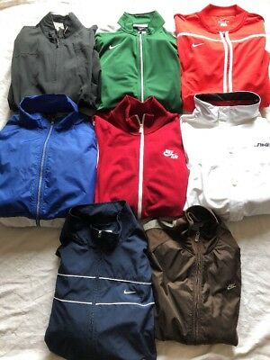 Nike Lot Of (8) Nike Track/windbreaker/weather Jackets All Adult Sizes