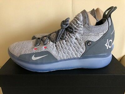 f58c28b3f7157 Nike Zoom KD 11 Cool Grey AO2604-002 Kevin Durant Wolf Grey Mens Basketball  Shoe