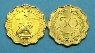 Paraguay 1953  50 Centimos  Km28  Uncirculated