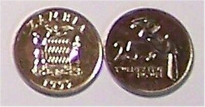 """Zambia  1992  25 Ngwee   """"hornbill""""    Uncirculated Coin"""