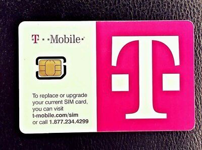 T-Mobile Sim CARD 4G LTE. FACTORY NANO SIM. UNACTIVATED, REPLACEMENT SIM New