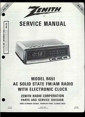 rare factory zenith r82 am fm vhf tv portable radio service manual rh picclick com zenith redi-set clock radio manual zenith cd clock radio manual