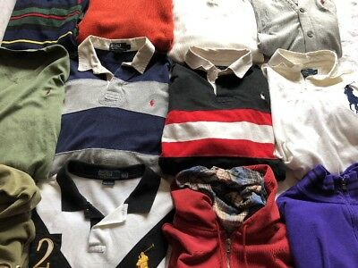 Polo Ralph Lauren Lot Of (12) Jackets/hoodies/polo's All Adult Sizes