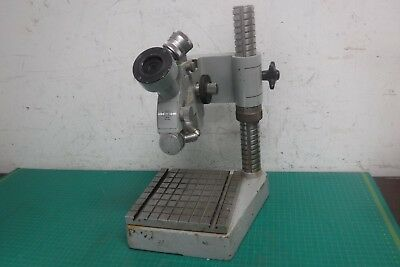 Vintage Carl Zeiss 36730 Microscope dual lens Stand +  Base turret