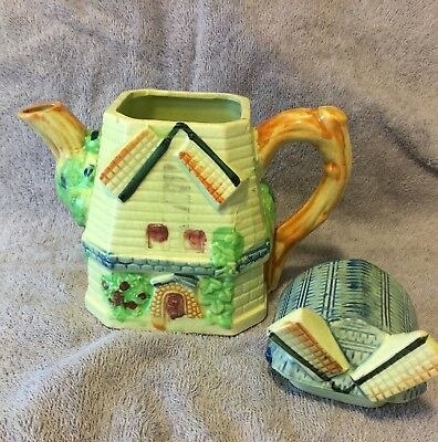 Vintage Windmill Ceramic Teapot Made in Japan